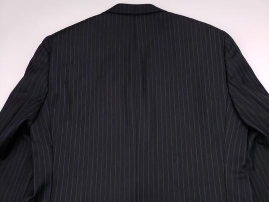 Hickey Freeman Gray Pinstriped 40r Suit Charcoal Blue Lindsey 2 Button Wool Shirt Image 9