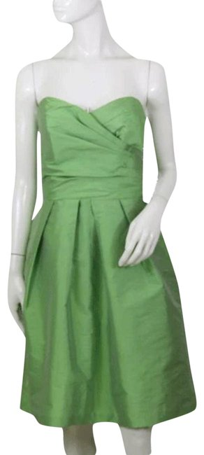 Preload https://img-static.tradesy.com/item/26331443/alfred-sung-green-strapless-sku-000172-mid-length-cocktail-dress-size-10-m-0-2-650-650.jpg