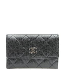 Chanel Chanel A50169 Black Caviar Quilted Leather Card Holder (178851)