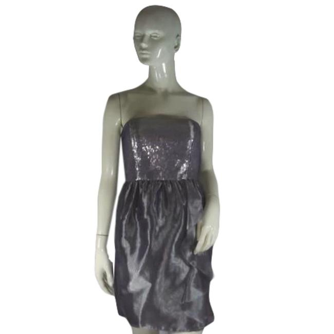 Item - Silver Sequined (Sku 000194-2) Short Cocktail Dress Size 2 (XS)