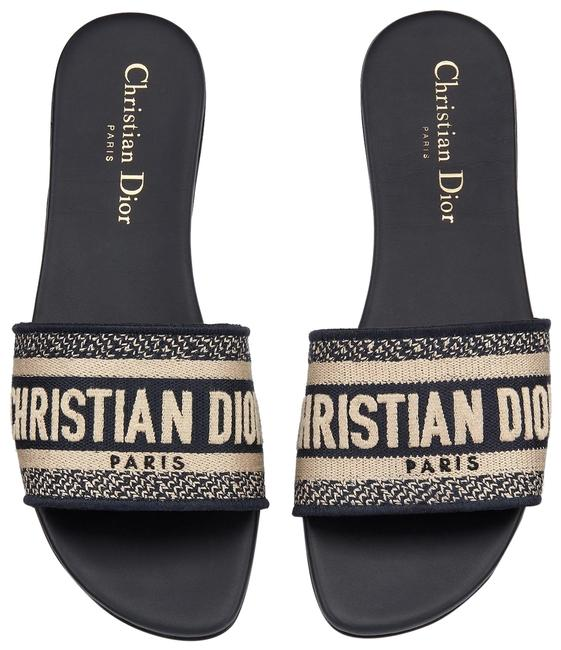 Item - Deep Blue Dway Cotton with Christian Embroidery Mules/Slides Size EU 37 (Approx. US 7) Regular (M, B)