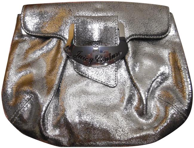 Item - Crackled Handbag Silver Leather Clutch