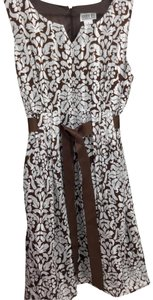 Robbie Bee short dress Brown/ White on Tradesy
