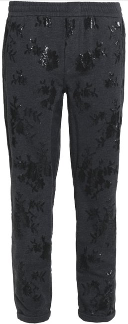Item - Gray Paillette Sequin Embellished Terry Tapered Pants Size 14 (L, 34)