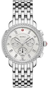 Michele Sidney Stainless Steel Mother of Pearl Diamond MWW30A000001