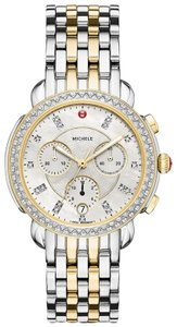 Michele Sidney Two Tone Stainless Steel Mother of Pearl Diamond MWW30A000005