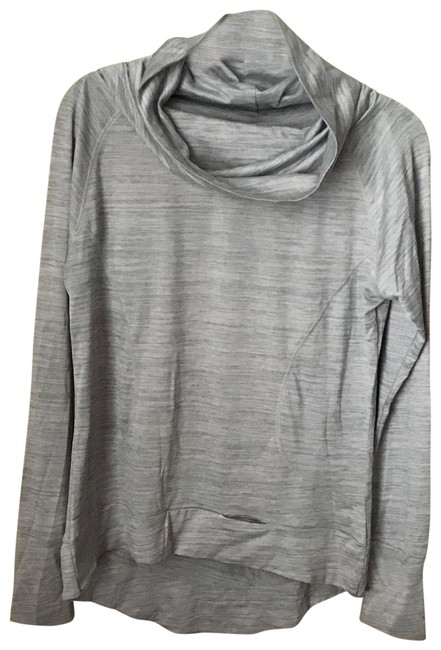 Item - Grey Silver Thumb Holes Fitness Tunic Activewear Top Size 12 (L)