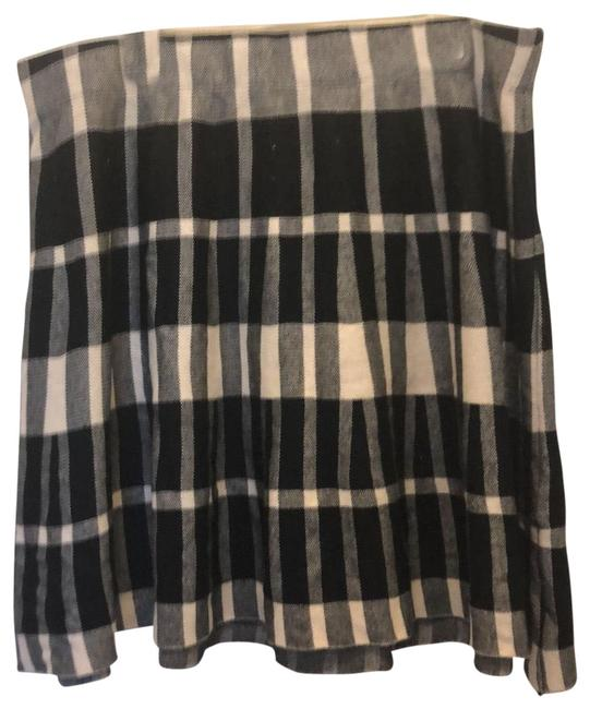 Item - Black and White Winter Weight Plaid Skirt Size 22 (Plus 2x)