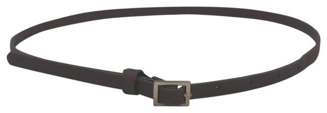 Item - Brown Skinny with Gold Buckle Belt