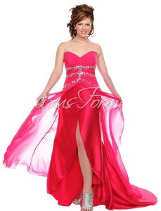 Precious Formals Prom Homecoming Pink Strapless Dress