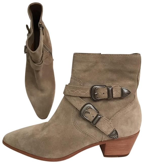Item - Gray New Suede Ellen Buckle Short Pointed Toe Ankle Ash Boots/Booties Size US 7.5 Regular (M, B)