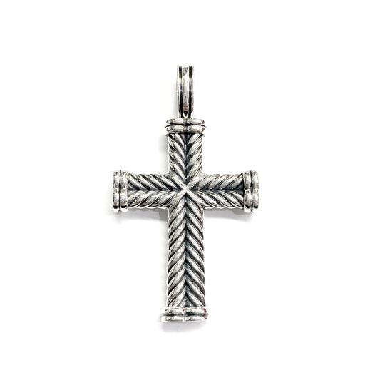 Preload https://img-static.tradesy.com/item/26334215/david-yurman-like-new-condition-sterling-silver-chevron-cross-charm-0-0-540-540.jpg