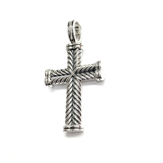 David Yurman GORGEOUS!!! LIKE NEW CONDITION!! David Yurman Sterling Silver Chevron Cross Image 1