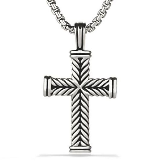 David Yurman GORGEOUS!!! LIKE NEW CONDITION!! David Yurman Sterling Silver Chevron Cross Image 8
