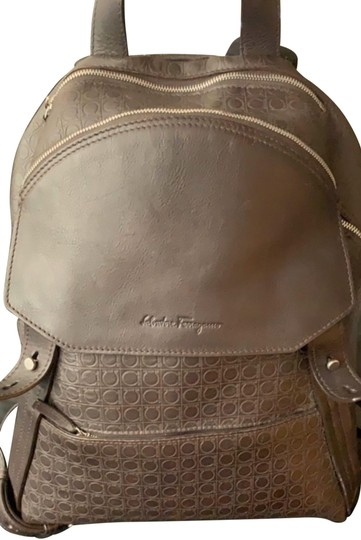 Preload https://img-static.tradesy.com/item/26334219/salvatore-ferragamo-gancio-stamped-brown-leather-backpack-0-2-540-540.jpg