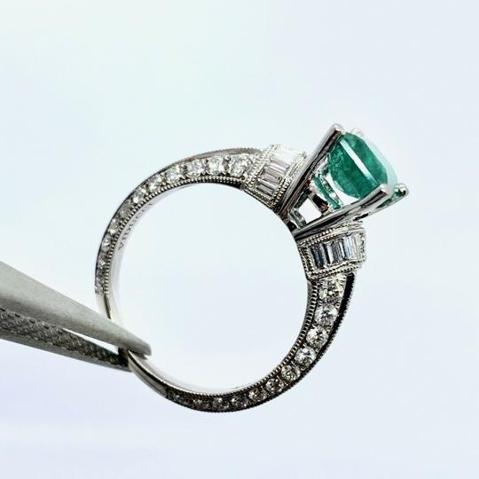 Estate Fine Emerald & Diamond 14 KT 2.15 TCW Ring Certified 4950 920217 Image 2