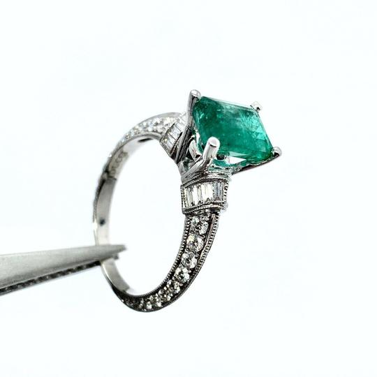 Estate Fine Emerald & Diamond 14 KT 2.15 TCW Ring Certified 4950 920217 Image 3