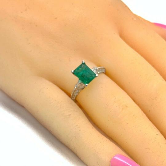 Estate Fine Emerald & Diamond 14 KT 2.15 TCW Ring Certified 4950 920217 Image 5