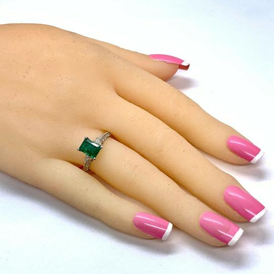 Estate Fine Emerald & Diamond 14 KT 2.15 TCW Ring Certified 4950 920217 Image 6
