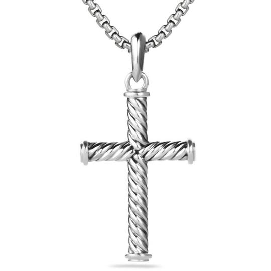 David Yurman GORGEOUS!!! LIKE NEW CONDITION!! David Yurman Sterling Silver 39mm Cable Cross Pendant Image 6