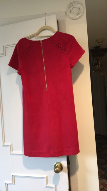 Design Lab (Lord & Taylor) short dress Red Faux Seude Lined on Tradesy Image 1