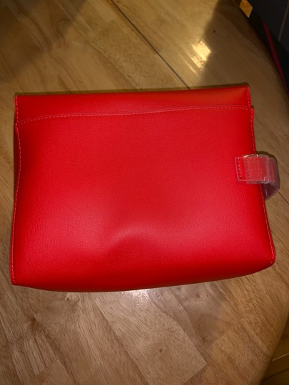 Givenchy Givenchy red magnetic closure cosmetic bag. Image 2