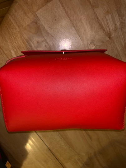 Givenchy Givenchy red magnetic closure cosmetic bag. Image 3