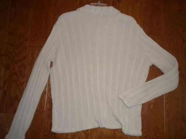 Classic Elements Button Front Beige Sweater Image 2