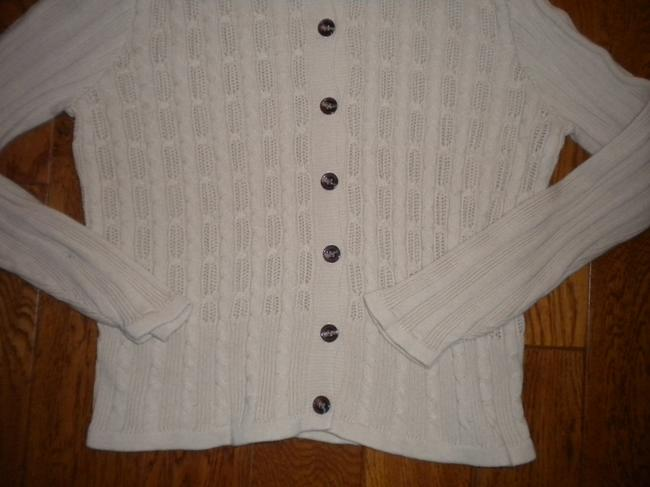 Classic Elements Button Front Beige Sweater Image 3