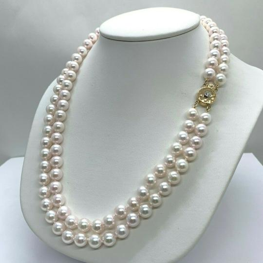 Preload https://img-static.tradesy.com/item/26334357/white-akoya-pearl-14-kt-750-mm-17-double-strand-certified-5950-necklace-0-4-540-540.jpg