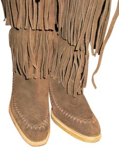 mich Boho Hippy Vintage Style Suede brown Boots