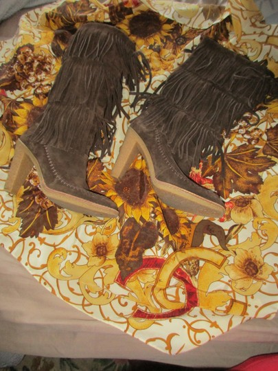 mich Boho Hippy Vintage Style Suede brown Boots Image 10