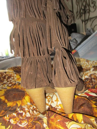 mich Boho Hippy Vintage Style Suede brown Boots Image 11