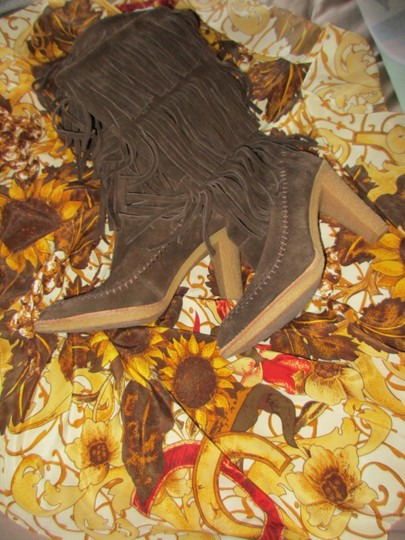 mich Boho Hippy Vintage Style Suede brown Boots Image 6