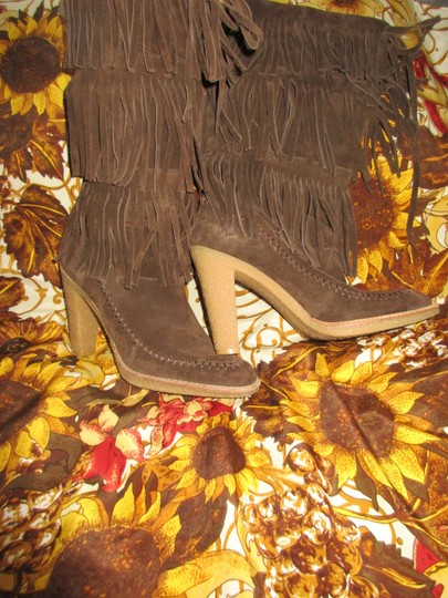 mich Boho Hippy Vintage Style Suede brown Boots Image 8