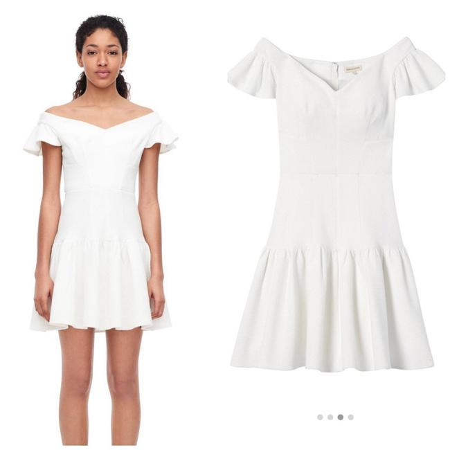 Preload https://img-static.tradesy.com/item/26334394/rebecca-taylor-white-off-the-shoulder-textured-short-casual-dress-size-10-m-0-0-650-650.jpg