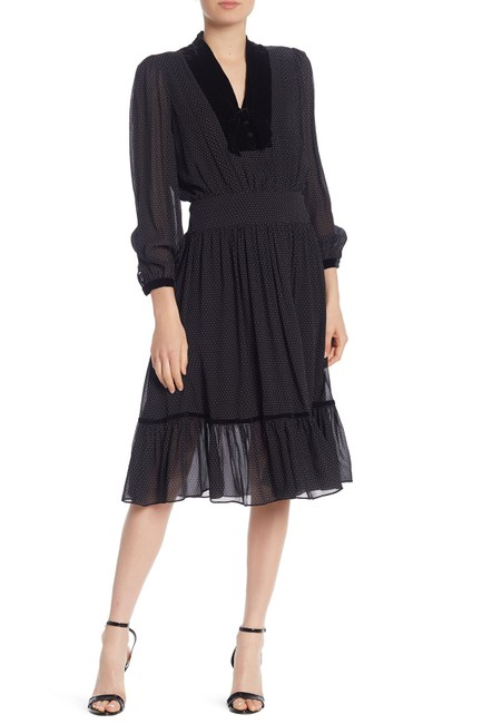 Preload https://img-static.tradesy.com/item/26334397/frame-black-denim-noir-velvet-trim-polka-dot-print-silk-mid-length-night-out-dress-size-10-m-0-0-650-650.jpg
