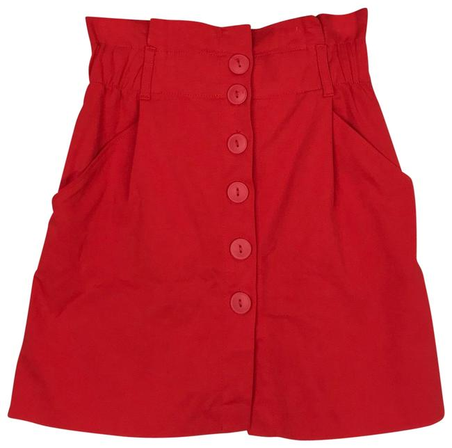 Preload https://img-static.tradesy.com/item/26334469/zara-red-button-front-paper-bag-waist-skirt-size-0-xs-25-0-1-650-650.jpg