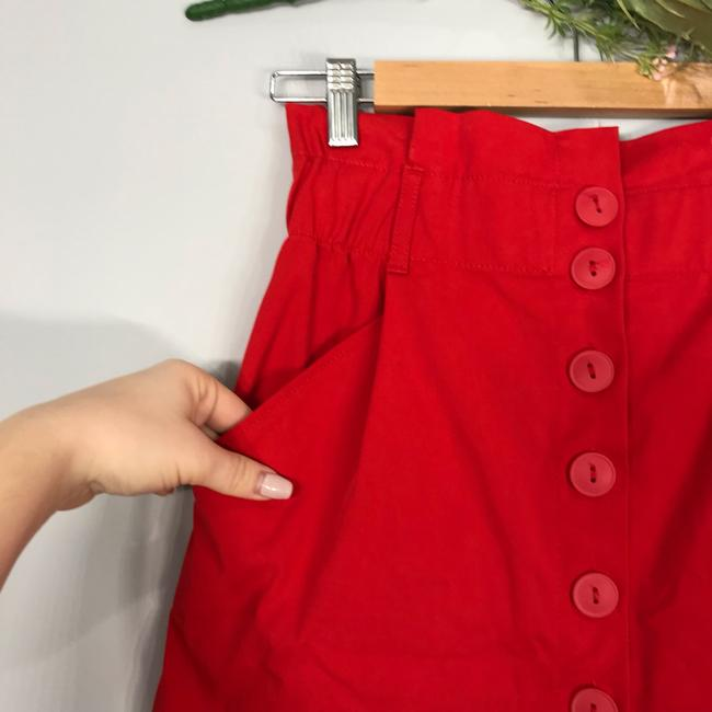 Zara Mini Skirt red Image 1