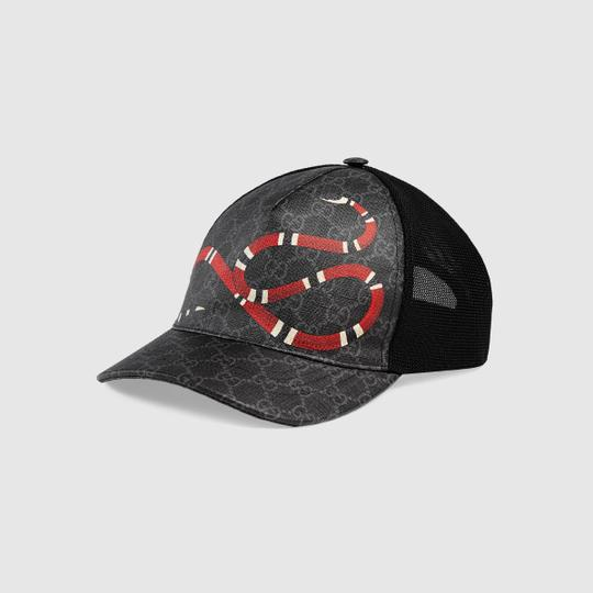 Preload https://img-static.tradesy.com/item/26334487/gucci-black-grey-kingsnake-print-gg-supreme-hat-0-0-540-540.jpg
