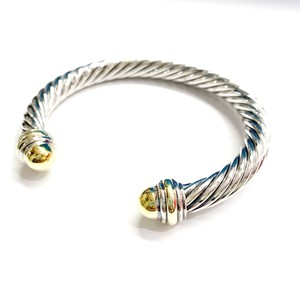 David Yurman GORGEOUS!!! LIKE NEW CONDITION!! David Yurman 14 Karat Yellow Gold and Sterling Silver Cable Cuff