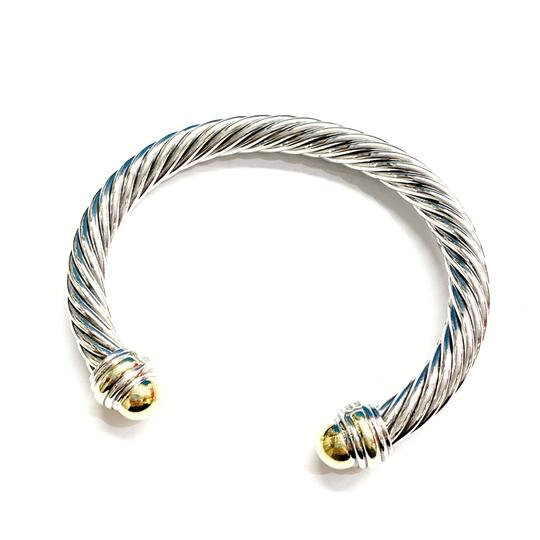David Yurman GORGEOUS!!! LIKE NEW CONDITION!! David Yurman 14 Karat Yellow Gold and Sterling Silver Cable Cuff Image 1
