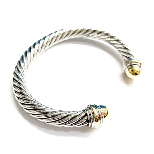David Yurman GORGEOUS!!! LIKE NEW CONDITION!! David Yurman 14 Karat Yellow Gold and Sterling Silver Cable Cuff Image 3