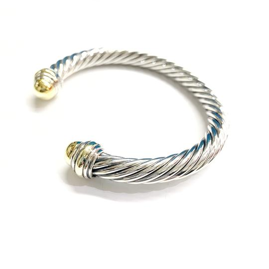 David Yurman GORGEOUS!!! LIKE NEW CONDITION!! David Yurman 14 Karat Yellow Gold and Sterling Silver Cable Cuff Image 4