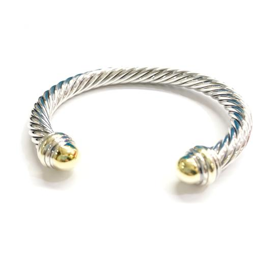 David Yurman GORGEOUS!!! LIKE NEW CONDITION!! David Yurman 14 Karat Yellow Gold and Sterling Silver Cable Cuff Image 5
