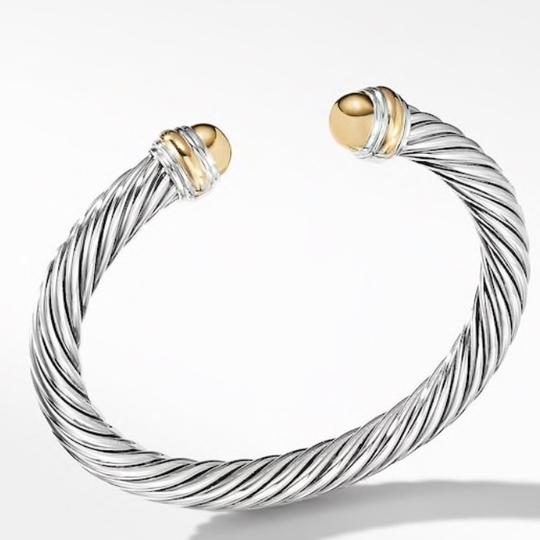David Yurman GORGEOUS!!! LIKE NEW CONDITION!! David Yurman 14 Karat Yellow Gold and Sterling Silver Cable Cuff Image 7