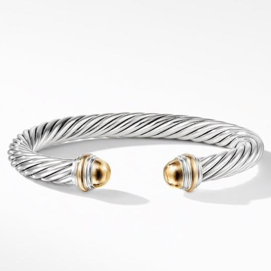 David Yurman GORGEOUS!!! LIKE NEW CONDITION!! David Yurman 14 Karat Yellow Gold and Sterling Silver Cable Cuff Image 8