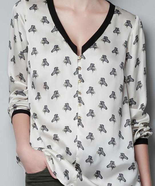 Zara Button Down Shirt Ivory Image 2