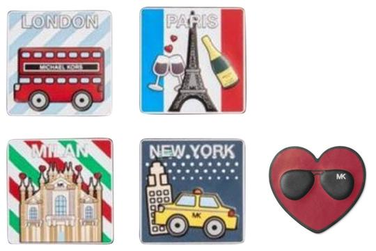 Michael Kors Michael Kors famous Cities Leather Sticker Set Image 8