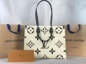 Louis Vuitton Tote in Ivory and Havana Beige